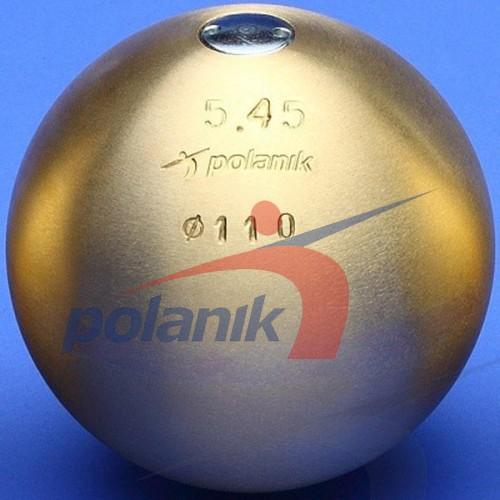 Ядро соревновательное Polanik Brass 5,45 кг, код: PK-5,45/110-M