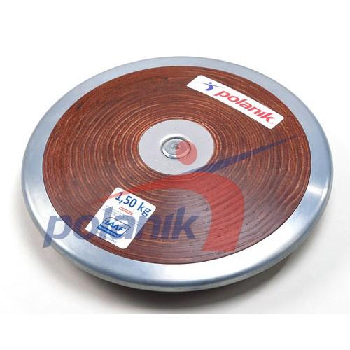 Диск Polanik (соревновательный) с твердой фанеры с центральной пластиной 1,5 кг, код: HPD17-1,5