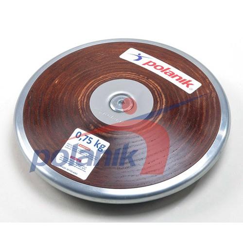 Диск Polanik (соревновательный) с твердой фанеры с центральной пластиной 0,750 кг, код: HPD17-0,75-R6