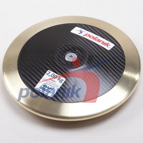 Диск соревновательный Polanik Full Carbon 2000 гр, код: CCD14-2