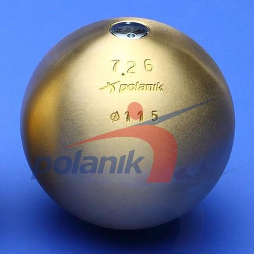 Ядро соревновательное Polanik Brass 7,26 кг, код: PK-7,26/115-M