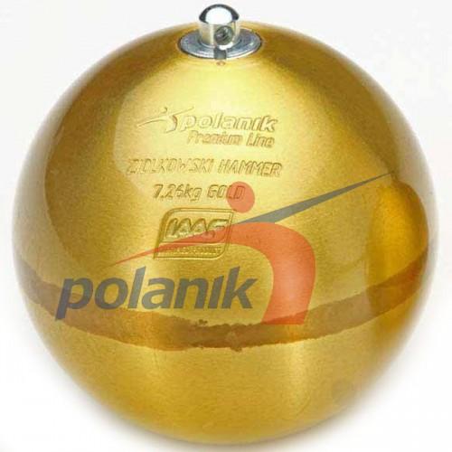 Молот соревновательный Polanik Ziolkowski Gold 7,26 кг, код: ZH-7,26-G