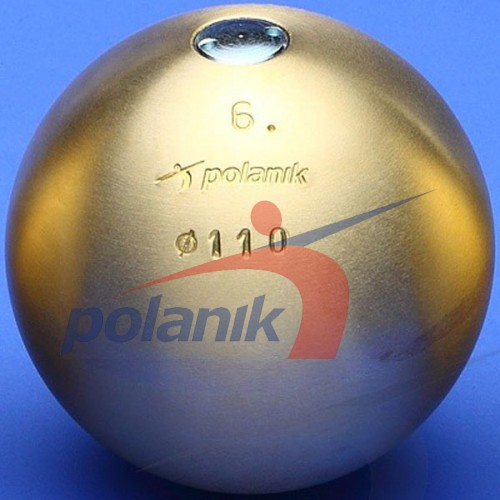 Ядро соревновательное Polanik Brass 6 кг, код: PK-6/110-M