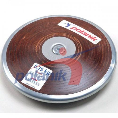 Диск соревновательный Polanik Plywood 750 гр, код: HPD17-0,75-R5