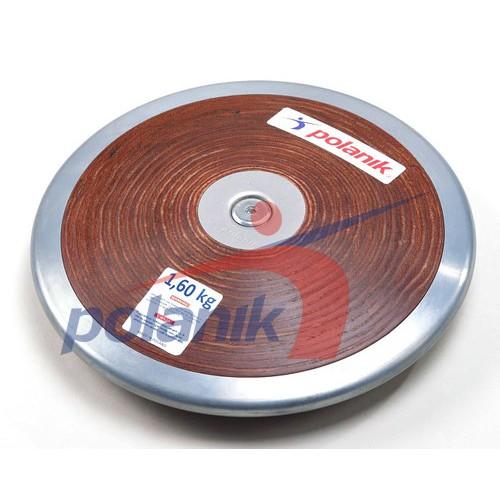 Диск Polanik (соревновательный) с твердой фанеры с центральной пластиной 1,6 кг, код: HPD17-1,6