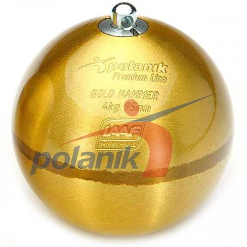 Молот соревновательный Polanik Premium Gold 4 кг, код: PH-4-G